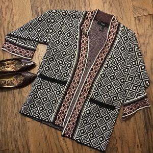Diamond Patterned Acrylic Sweater